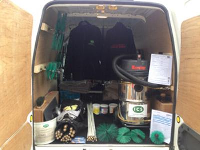 CliveScott-Inside-Van
